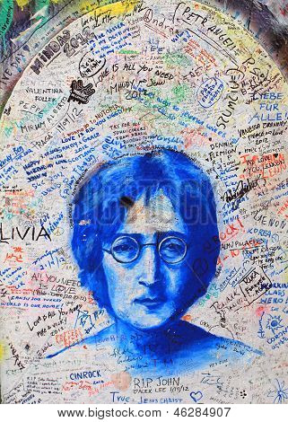PRAGUE, CZECH REPUBLIC, 2012. Lennon Wall