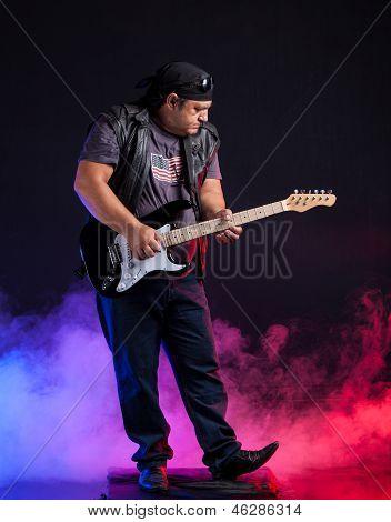 old school rock musician