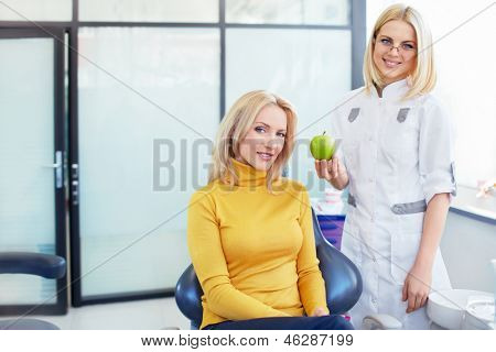 Young female patient in the dentist's office