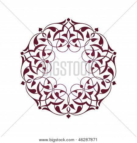 Purple Ottoman patterns over white
