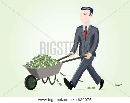 Businessman With Cart