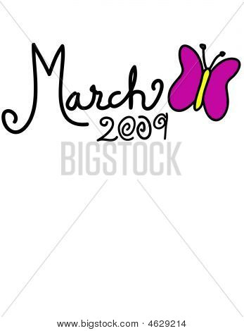 March 2009 Vector Butterfly Header