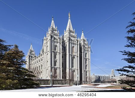 Mormon Temple - The Salt Lake Temple, Utah