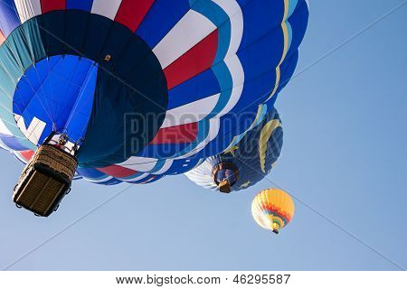 Abstract Hot Air Balloons