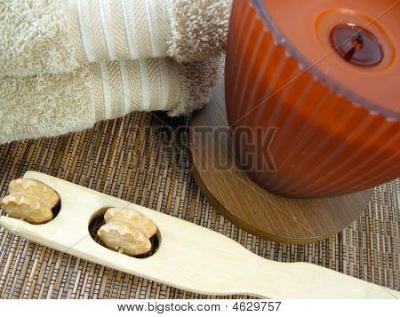Towel, Candle, Scratcher