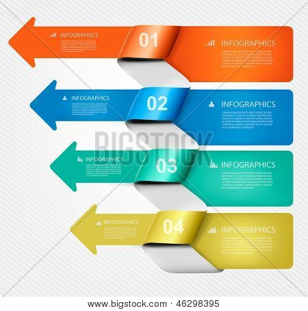 Set of info graphics banners with numbers and icons. Vector illustration