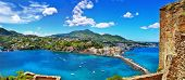 beautiful Ischia isalnd - view from castel. Italy