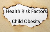 foto of child obesity  - Close up of Health risk factors  - JPG