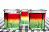 pic of jello  - Traffic light jello made of three layers jello - JPG