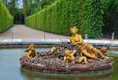 image of versaille  - golden statue of flora in Versailles Palace garden France - JPG