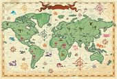 Colorful Ancient World Map mouse pad