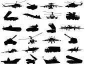 picture of armored car  - Detailed weapon silhouettes set - JPG
