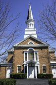 foto of stockade  - First Presbyterian Church the the stockade section of Schenectady New York - JPG