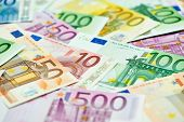 stock photo of bribery  - European currency money euro banknotes bill - JPG