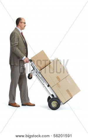 Businessman With A Handcart