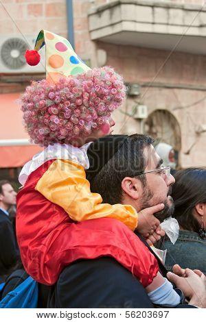 JERUSALEM - MARCH 15: Purim carnival March 15, 2006 in Jerusalem.