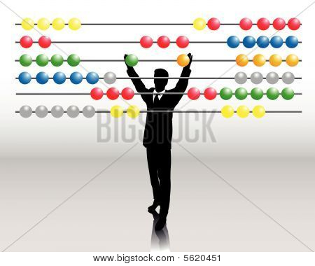 business man with abacus