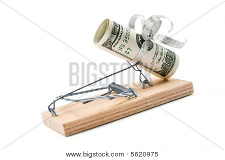 Mouse Trap With Dollars