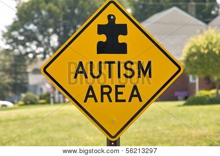 Autism Area Sign