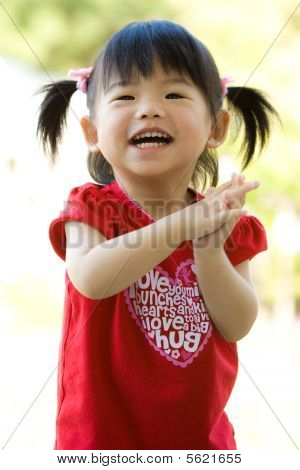 Little Asian Chinese girl