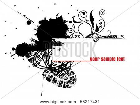 vector splashes - size and color can be changed