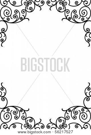 wrought iron frame (vector)