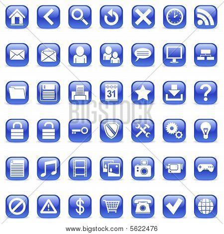 Iconos de la Web.