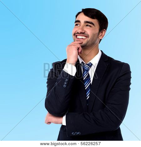 Businessman Thinking Something