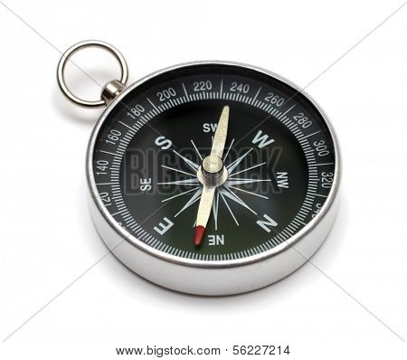 compass on white backgroun