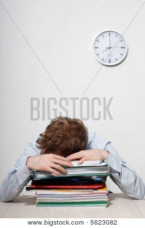 Business Man Sleeping