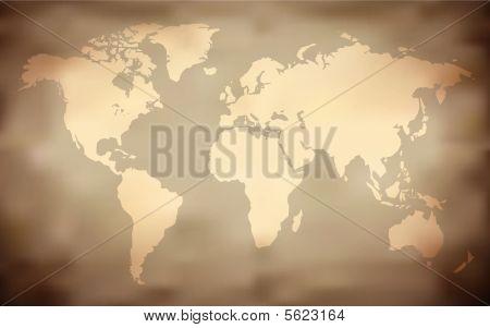 Grungy World Map