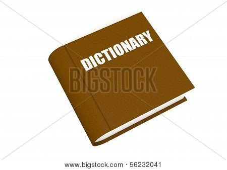 Dictionary in brown