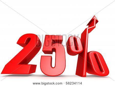 Up 25 percent