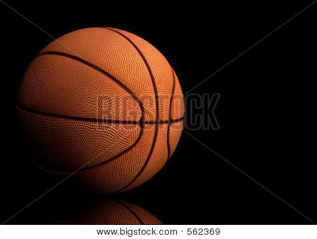 Basketball Over Black