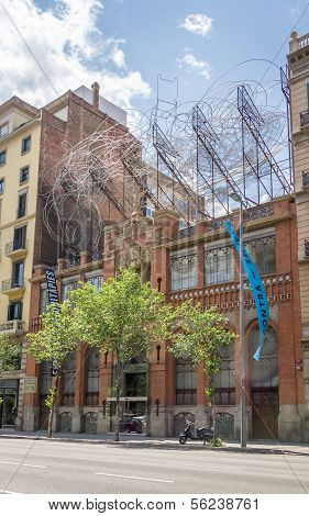 Facade of Antoni Tapies foundation, in Barcelona