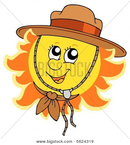 Sun in scout hat
