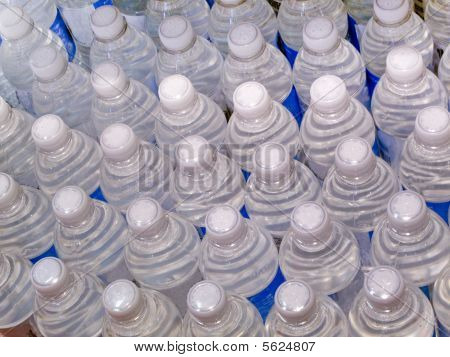 Several bottles of water
