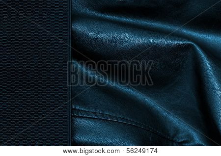 Black Leather Background With Margin