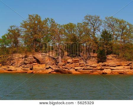 Lake with Red Soil
