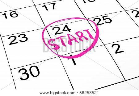 Vector closeup of dates on calendar page
