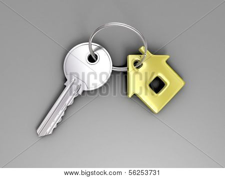 Key. 3d illustration.