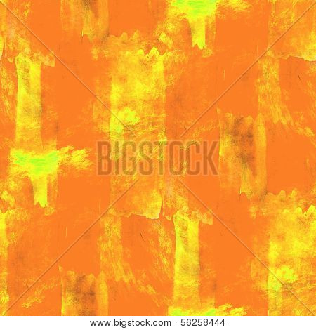 abstract orange, yellow avant-garde seamless wallpaper watercolo