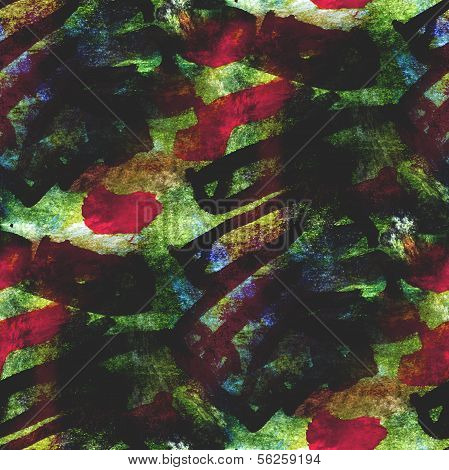abstract avant-garde seamless red, green wallpaper watercolor ar