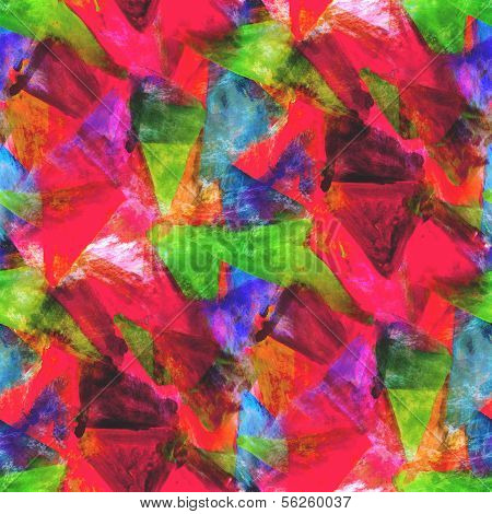 abstract red, green avant-garde seamless wallpaper watercolor ar