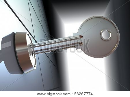 The key. 3d illustration.
