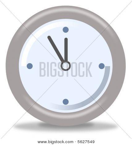 Clock Five Mintures Before Twelve