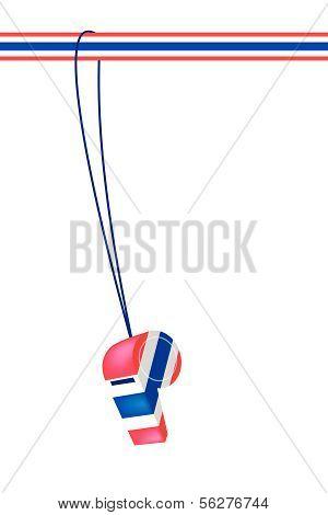 A Thai Whistle On A Stripe Ribbon
