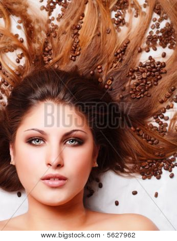 Woman With Coffee Beans