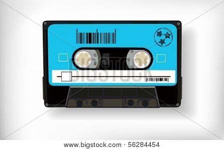 old retro audio tape