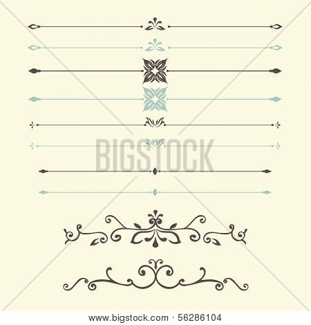 vector set: calligraphic design vintage elements and page decoration - lots of useful elements to embellish your layout